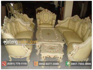 Kursi Tamu Sofa Monaco Gajah Duco Putih