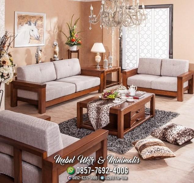 Jual Kursi Tamu Sofa Minimalis Jati Pengiriman Ke Aceh Jateng Mebel