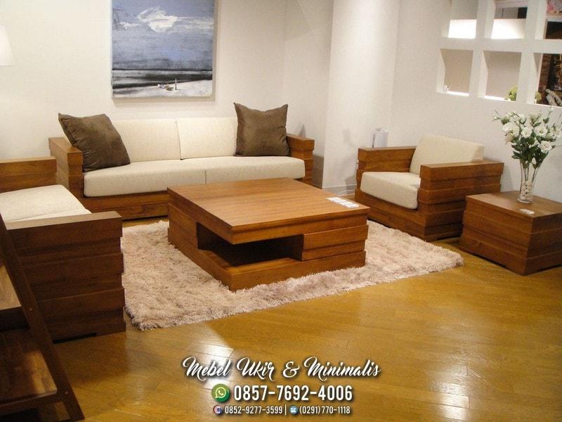 Jual Kursi Tamu Sofa Minimalis Jati Pengiriman Ke Bekasi Jateng Mebel